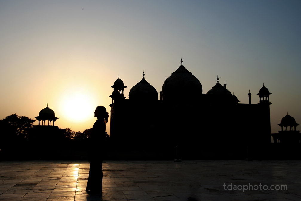 Sunset on Taj Mahal